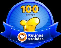 RUTINOS SZAKÁCS Receptek száma: 100