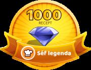 SÉF LEGENDA Receptek száma: 1000