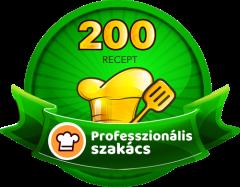 PROFESSZIONÁLIS SZAKÁCS Receptek száma: 200