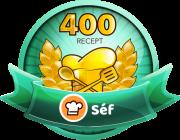 SÉF Receptek száma: 400