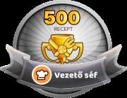 VEZETŐ SÉF Receptek száma: 500