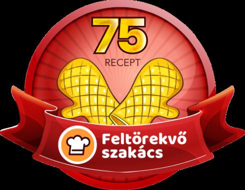 FELTÖREKVŐ SZAKÁCS Receptek száma: 75